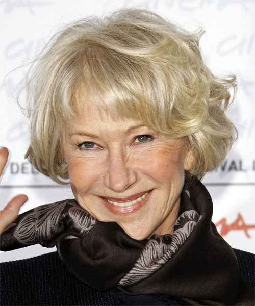 Helen Mirren Short Wavy Hairstyle