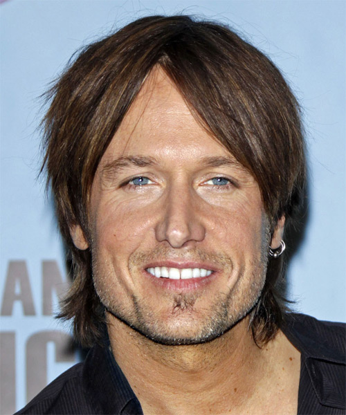 Keith Urban - Casual Medium Straight Hairstyle