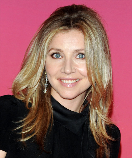 Sarah Chalke Long Straight Hairstyle - Dark Blonde (Golden)