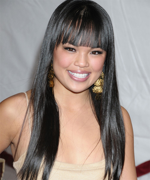 Nikki Soohoo - Casual Long Straight Hairstyle