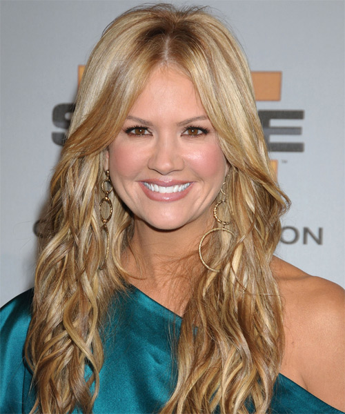 Nancy O Dell Long Wavy Casual Hairstyle