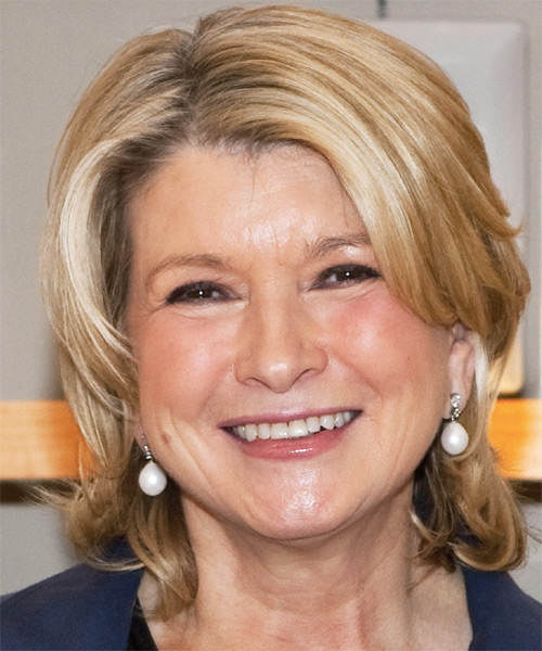 Martha Stewart Short Wavy Casual Hairstyle