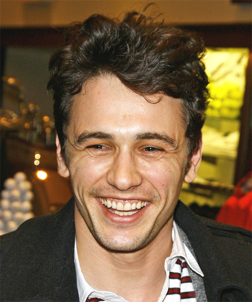 James Franco Short Wavy Casual Hairstyle