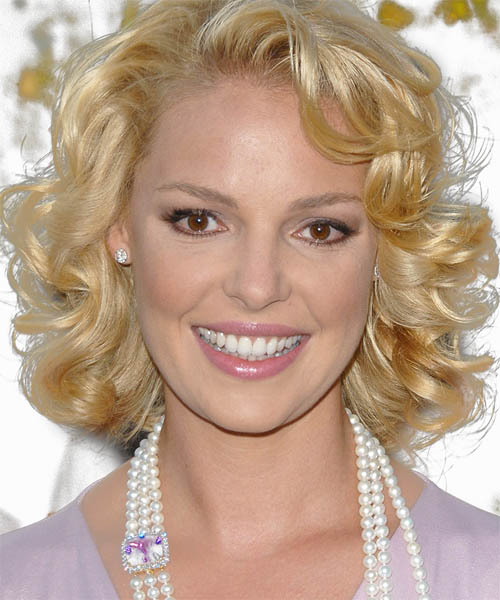 Katherine Heigl Hairstyle - Medium Curly Formal | TheHairStyler.com