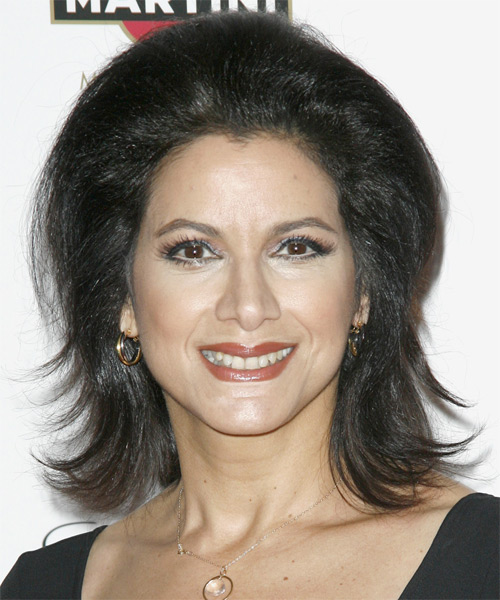 Saundra Santiago - Casual Medium Straight Hairstyle