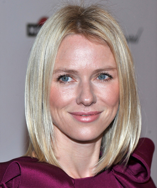 Naomi Watts - Casual Medium Straight Hairstyle