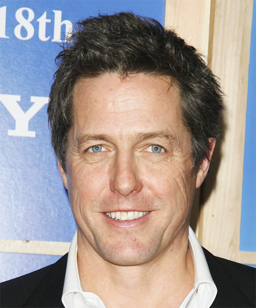 Hugh Grant Short Straight Hairstyle - Medium Brunette (Ash)
