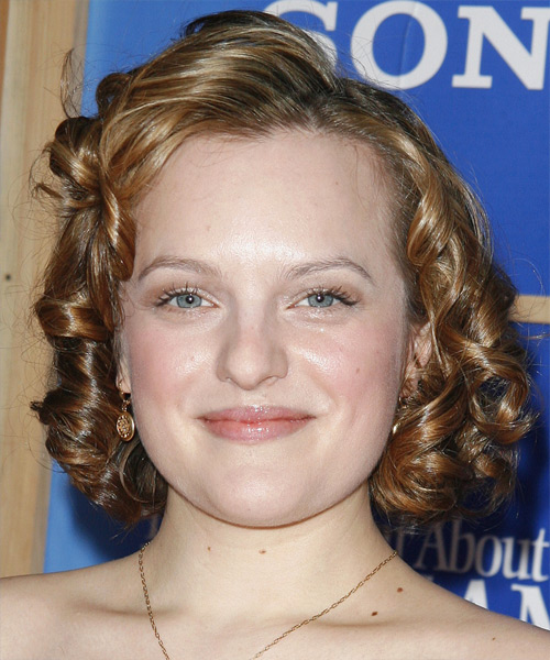 Elisabeth Moss - Formal Medium Curly Hairstyle