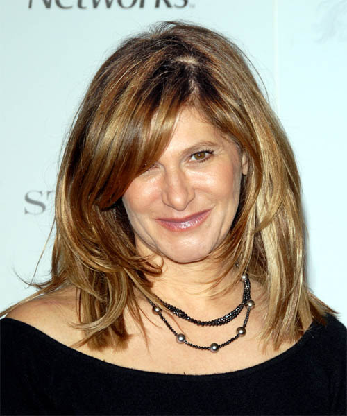Amy Pascal Long Straight Casual Hairstyle