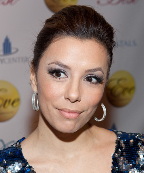 Eva Longoria Parker - Casual Updo Long Curly Hairstyle