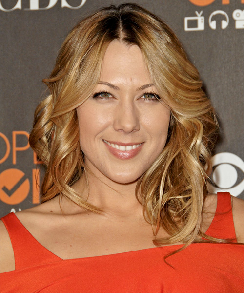Colbie Caillat Long Wavy Formal Hairstyle - Dark Blonde (Copper) Hair Color