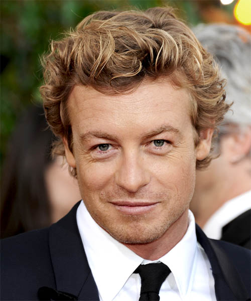 Simon Baker Short Wavy Casual
