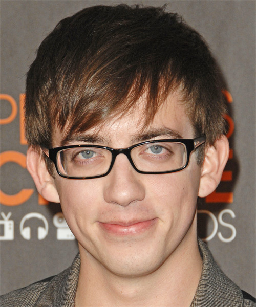 Kevin McHale Short Straight Hairstyle - Medium Brunette (Ash)