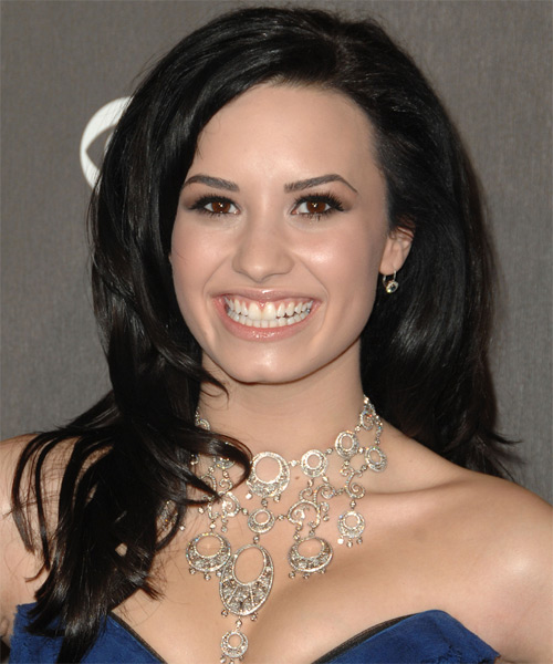Demi Lovato Long Straight Formal Hairstyle