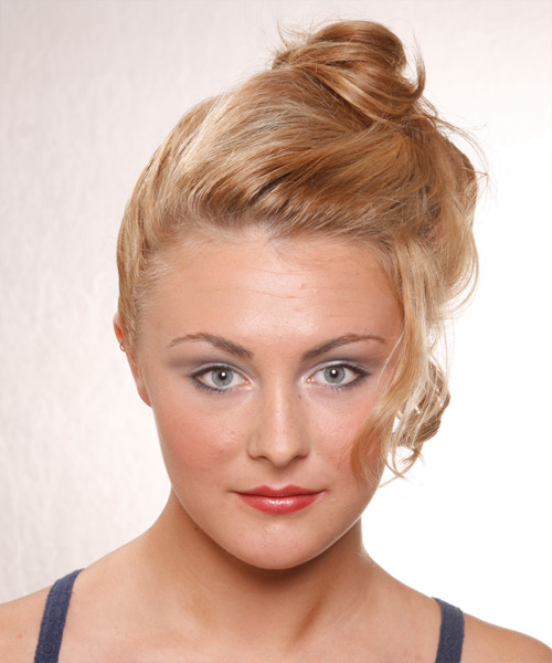 Formal Curly Updo Hairstyle - Medium Blonde (Honey)