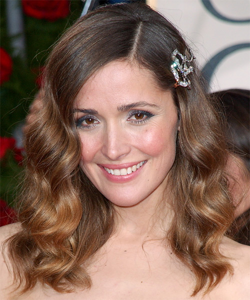 Rose Byrne Long Wavy Formal Hairstyle - Medium Brunette (Chestnut) Hair Color
