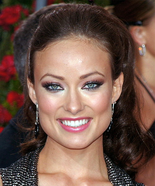 Olivia Wilde Updo with an Elegant Ponytail