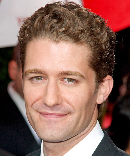 Matthew Morrison Short Wavy Formal Hairstyle - Light Brunette Hair Color