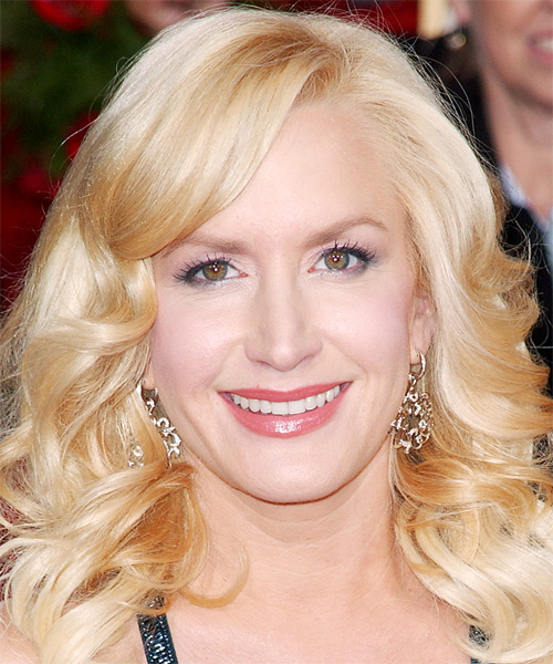 Angela Kinsey Long Wavy Formal Hairstyle