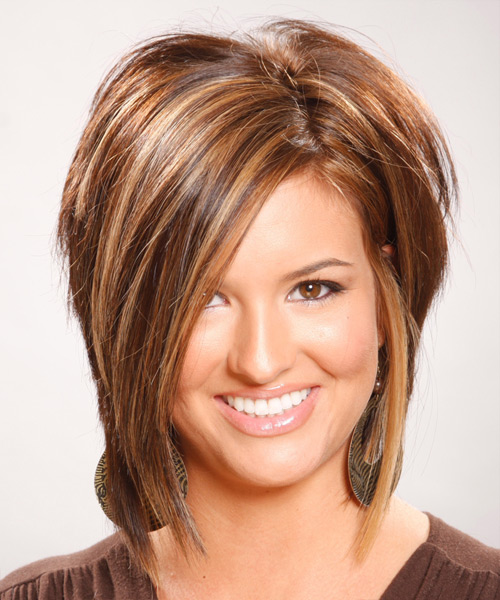 Medium Straight Formal Hairstyle - Light Brunette (Chocolate)