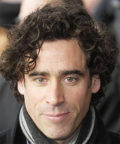 Stephen Mangan Medium Curly Hairstyle