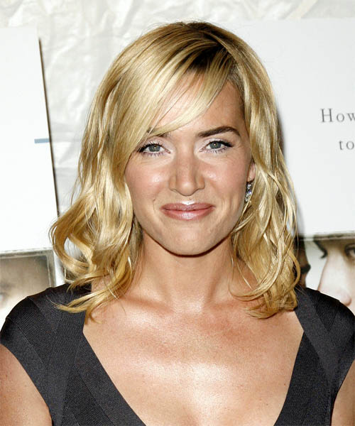 Kate Winslet - Casual Long Wavy Hairstyle