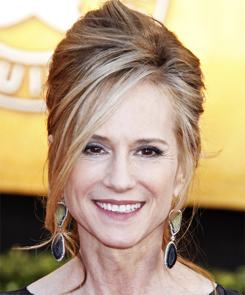 Holly Hunter - Formal Updo Long Straight Hairstyle