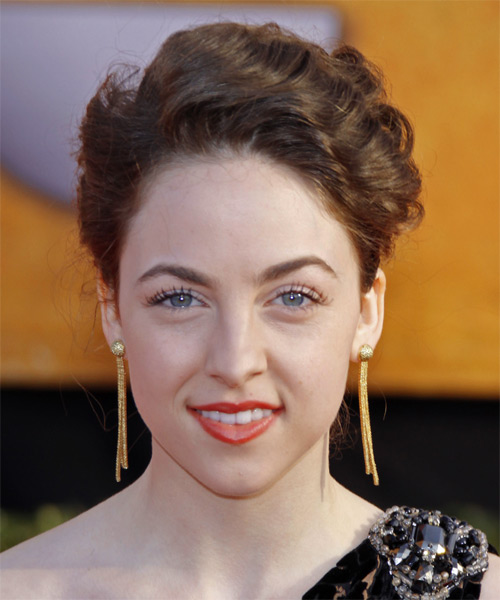 Brittany Curran  Curly Formal Updo Hairstyle
