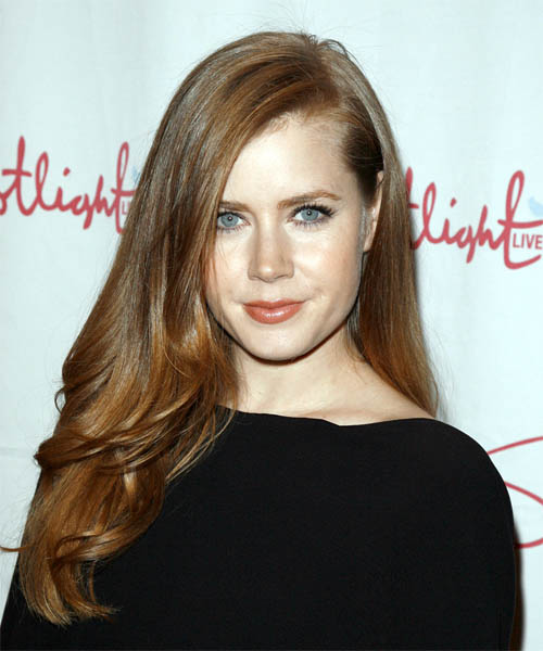 Amy Adams Long Straight Hairstyle