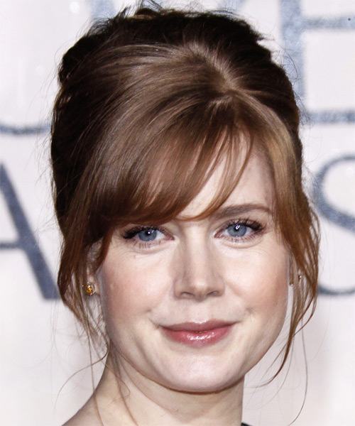 Amy Adams Formal Straight Updo Hairstyle