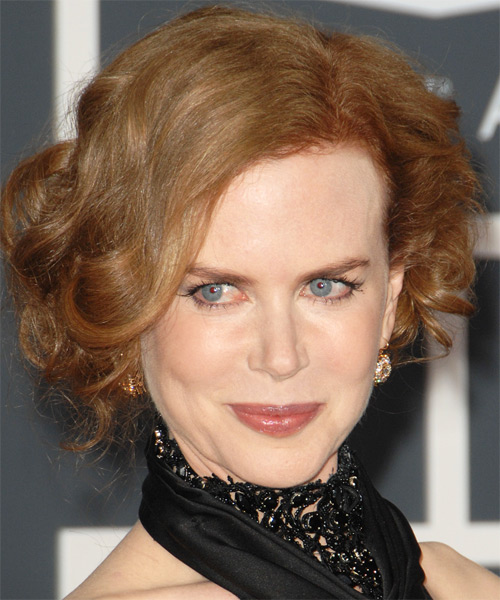 Nicole Kidman Formal Curly Updo Hairstyle - Light Red (Ginger)