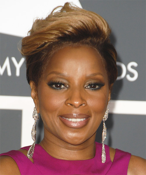 Mary J. Blige Short Straight Hairstyle