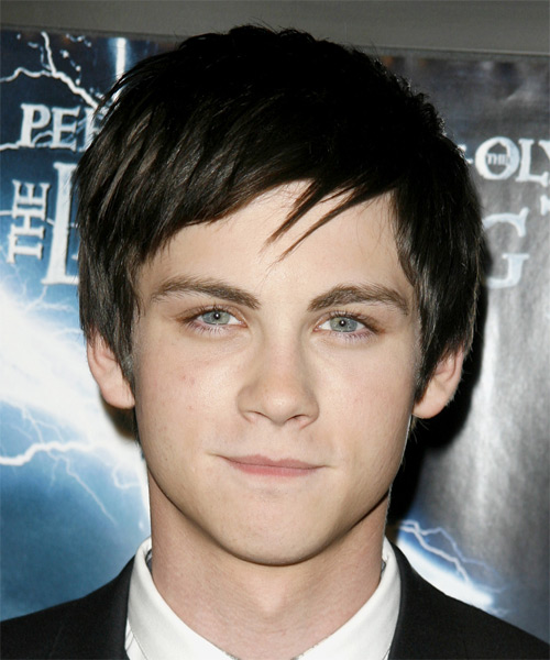 Logan Lerman Short Straight Formal Hairstyle