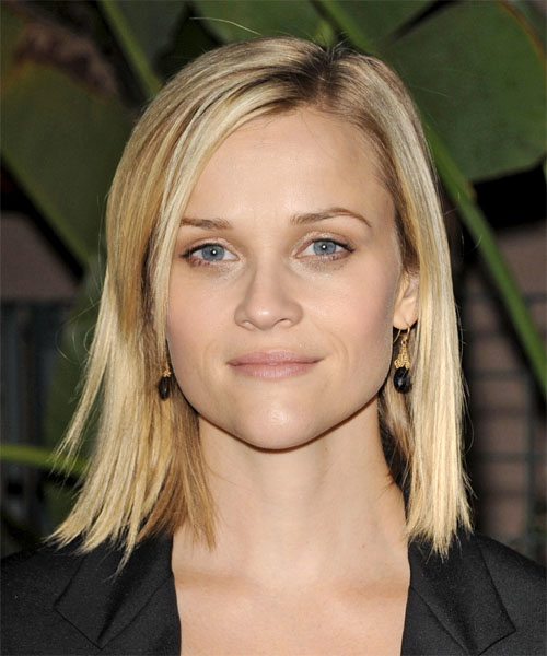 Reese Witherspoon Medium Straight Casual Bob Hairstyle