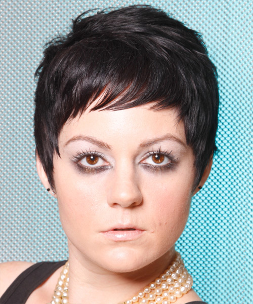 Short Straight Casual Hairstyle - Black