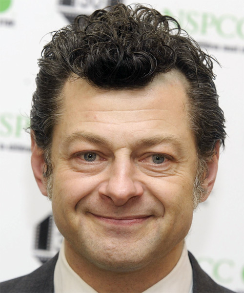 Andy Serkis Short Wavy Hairstyle