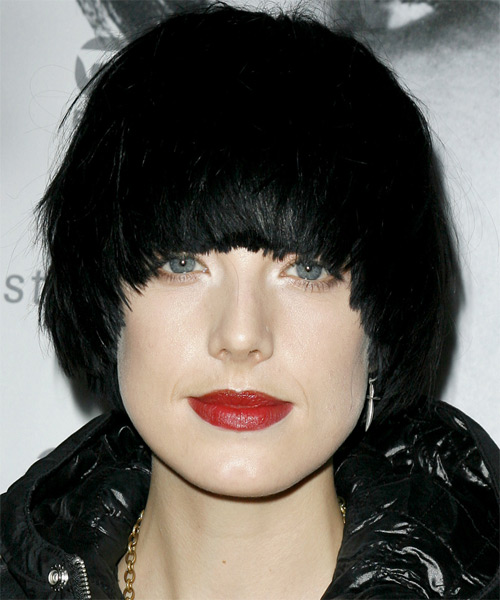 Agyness Deyn Medium Straight Hairstyle