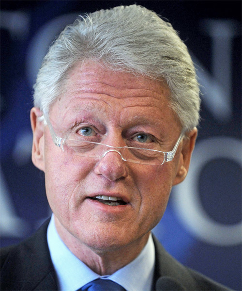 Bill Clinton Short Straight Hairstyle