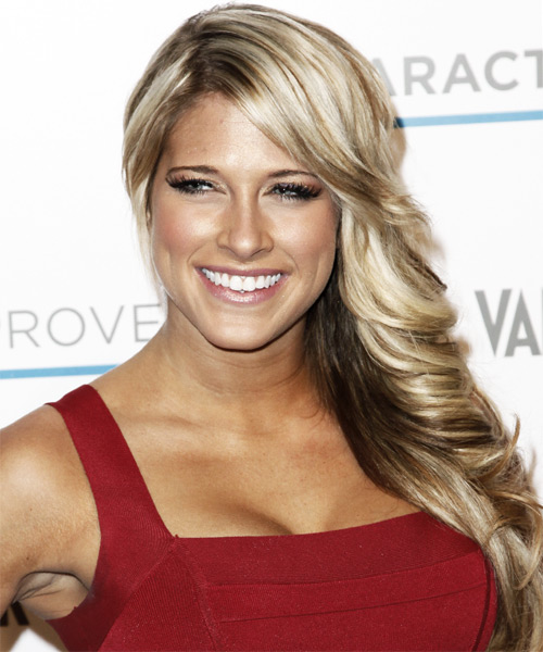 Kelly Kelly - Formal Long Wavy Hairstyle