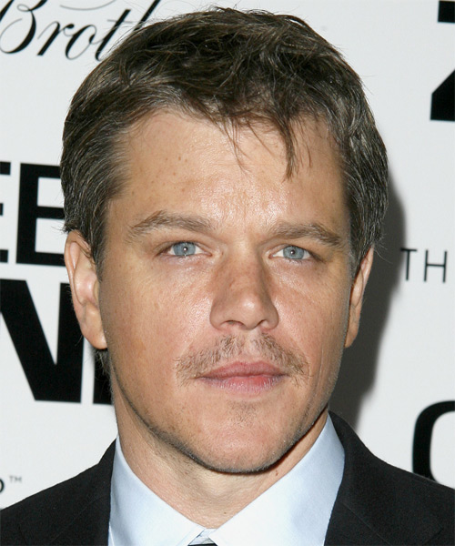Matt Damon Short Straight Casual
