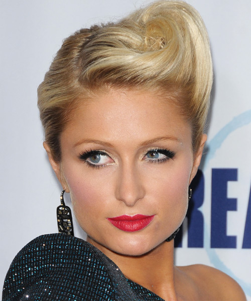 Paris Hilton - Formal Updo Long Curly Hairstyle