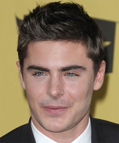 Zac Efron Short Straight Hairstyle - Black