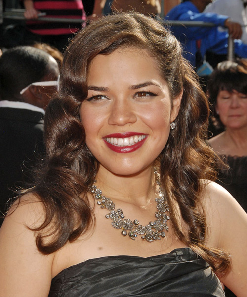 America Ferrera Long Wavy Formal Hairstyle