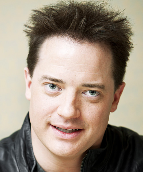 Brendan Fraser Short Straight Hairstyle - Medium Brunette (Ash)