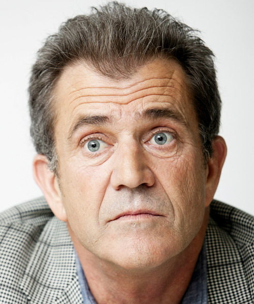 Mel Gibson Short Straight Hairstyle
