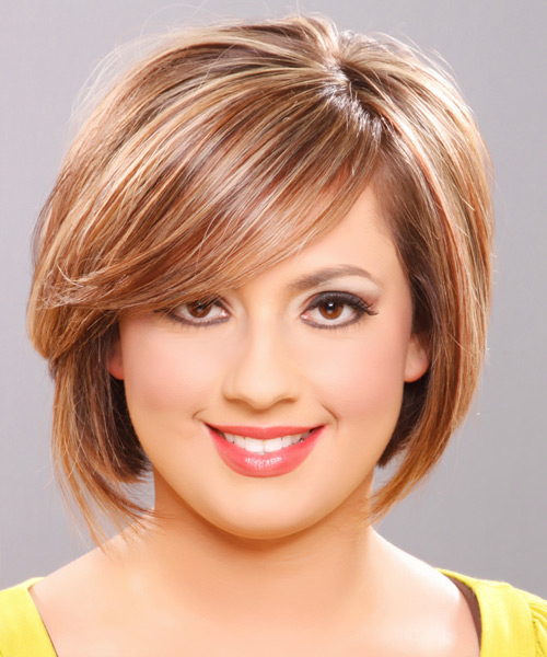 Medium Straight Formal Hairstyle - Dark Blonde (Golden) Hair Color