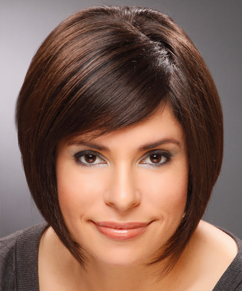 Medium Straight Formal Hairstyle - Dark Brunette (Mocha)