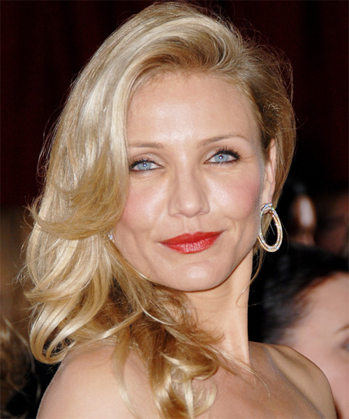Cameron Diaz Long Wavy Formal Hairstyle