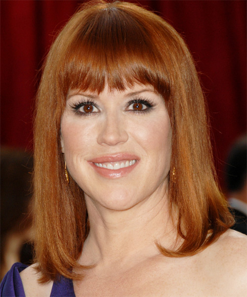 Molly Ringwald - Casual Medium Straight Hairstyle
