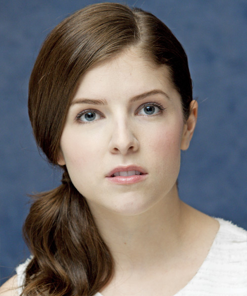 Anna Kendrick - Casual Updo Long Curly Hairstyle